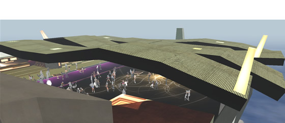 The 6th Element's new dance floor sprawls beneath the open sky peaking through the modern rooftop
