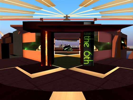 The 6th Element's newly designed entrance is worth the visit alone according to SL resident Symon Chesnokov