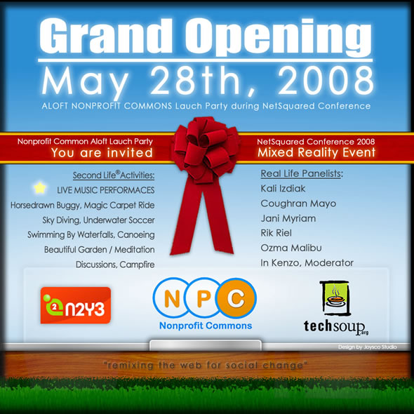 Second Life News: Grand Opening of New Nonprofit Island May 28th