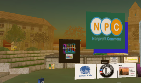 Nonprofit Commons Project sim in Second Life