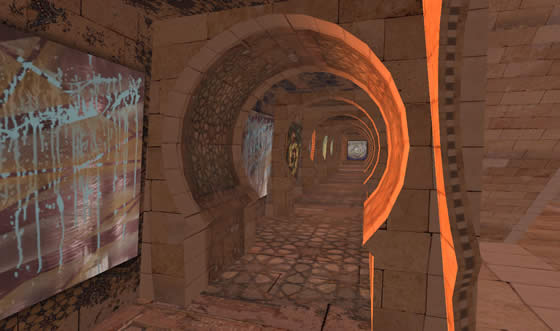 Basak Temel's artwork lines the hallways of the RIOX Hotel in Turkey and in Second Life.