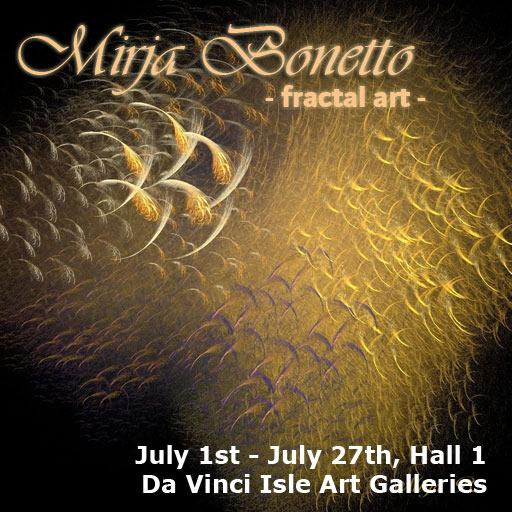 Da Vinci Isle presents Mirja Bonetto in it's second life art gallery.