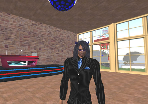 Long-time SL Resident Rayne Broome acted as party DJ and host.