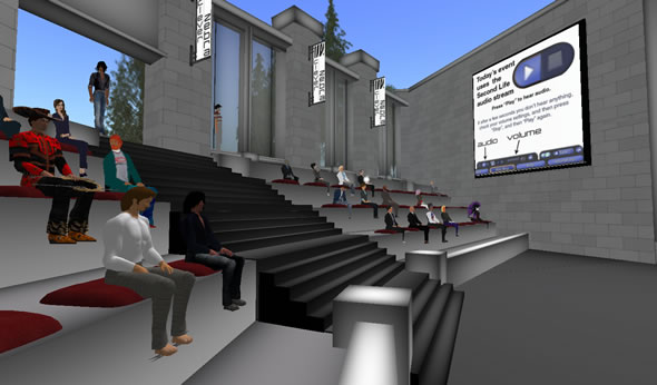 Second Life Virtual World presentation by Clever Zebra
