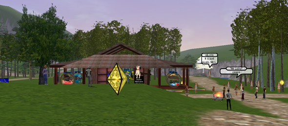 Screenshot from virtual world, Active Worlds