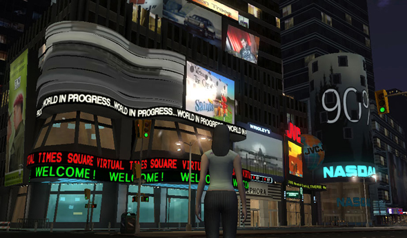 Screenshot from New York demo of virtual world using the Multiverse platform