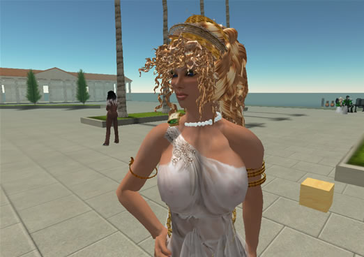 Deb Regent at the Linden's Party in Second Life