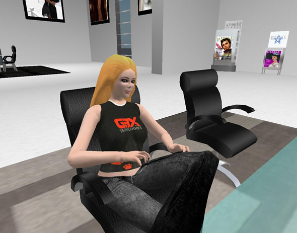 GAX's Managing Director, Cornelia den Hartog – Second Life name GAXDirector Weston