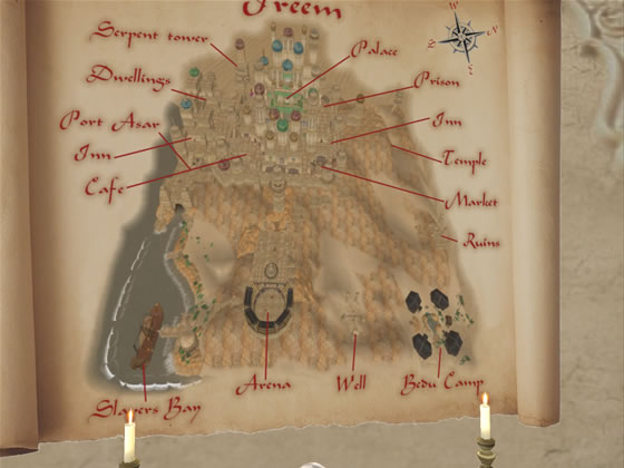 Map of Kingdom of Sand sim, Purgatorio in Second Life