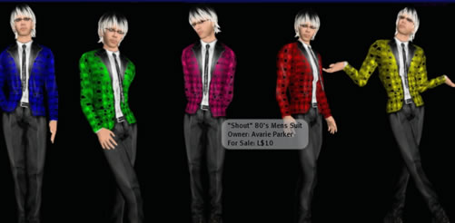 Second Life Mens costume give out in goodie bag at party
