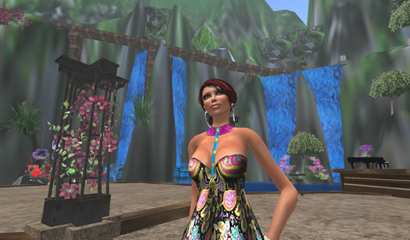 Second Life   Resident on the dance floor at Midnight Reflections