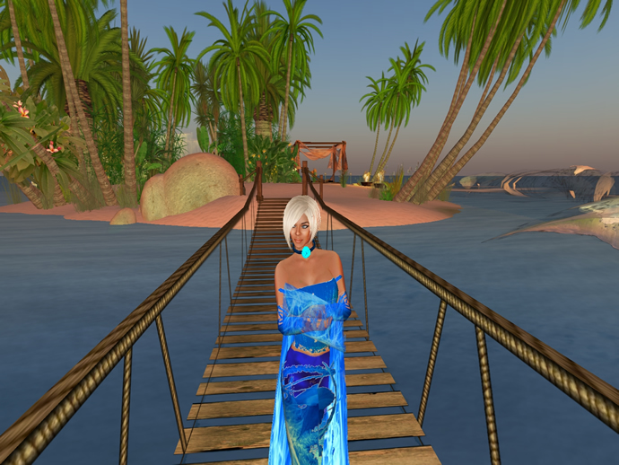 Bridge to Mimi's smaller Second Life island