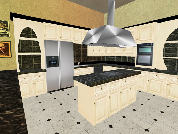 Second Life home kitchen