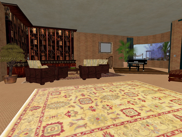 Music room in Second Life home