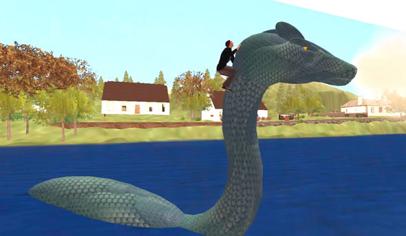 SLENTRE reporter takes a ride on SL's Loch Ness Monster