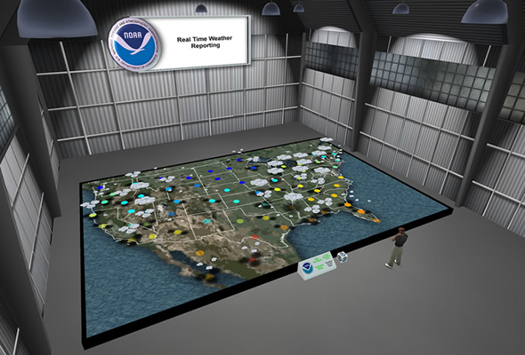 NOAA's real time weather map in Second Life