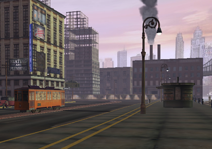 Screenshot from Dark City, a 3D world created using Blink 3D