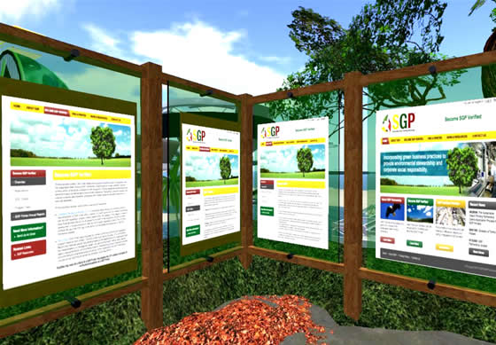 The SP Green Exhibit built to inform students about ecologically friendly printing practices.