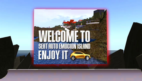 SEAT's Virtual Presence in Second Life features a dedicated Island and highly detailed free cars.