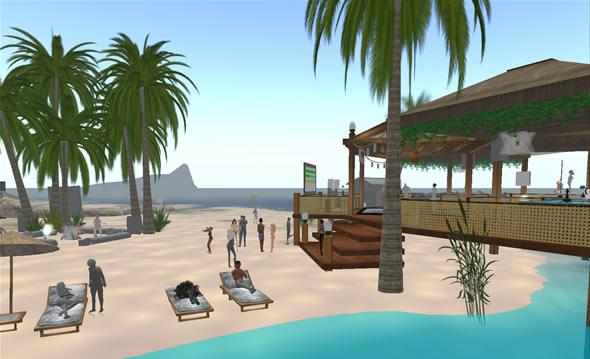 Sexy   Islands, Second Life's most popular beach.
