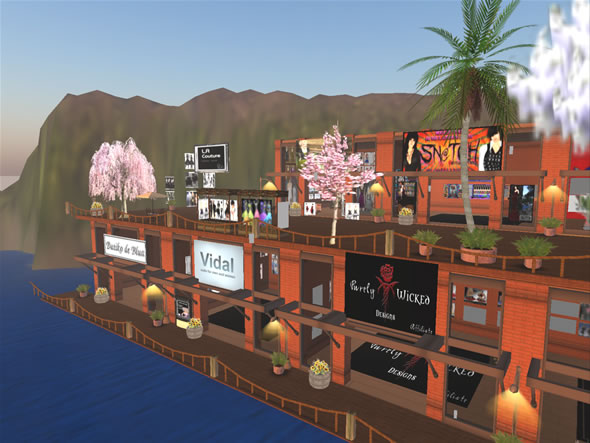 Second Life Shopping Area on Sterling Heights.