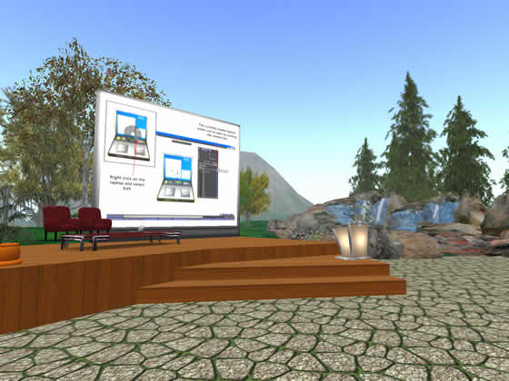 Area for presentations on the Sigma Alrdrich Commons Sim in Second Life