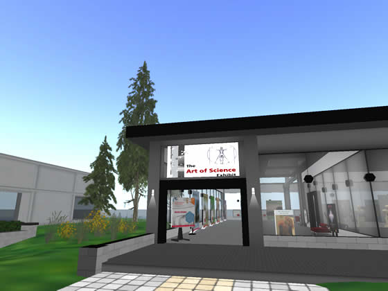 The Art of Science Exhibit on the Sigma-Aldrich Second Life parcel.
