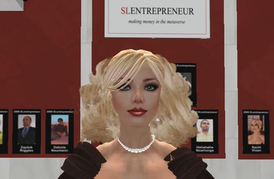 2008 SLentrepreneur runner up, Saffia Widdershins