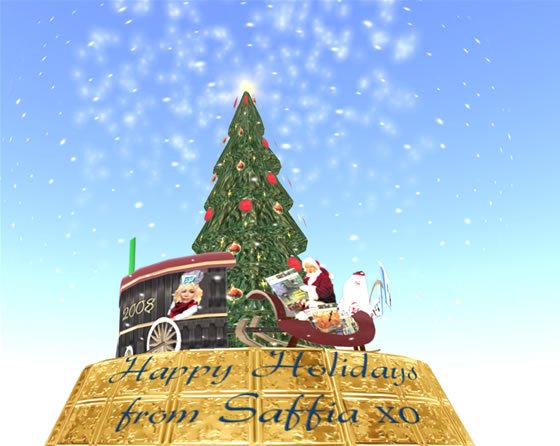 Saffia's snow globe was all sugar and light in keeping with the spirit of the season.