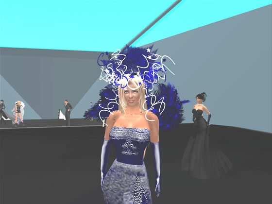 2008 SLentrepreneur of the year, Mimi Juneau in her custom made gown and headress.