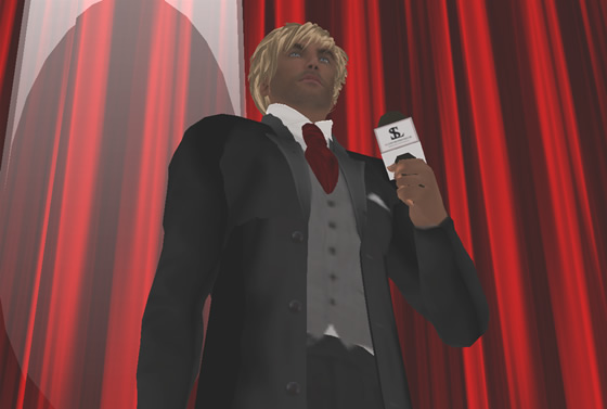 Sigmund Leominster stands in the spotlight, stealing this reporter's heart in front of the attentive SL audience.