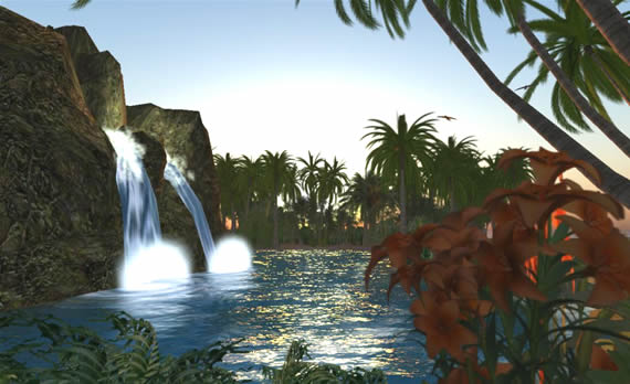 SLENTRE Sponsor, Inspiration Cove, is covered with lush gardens and waterfalls.