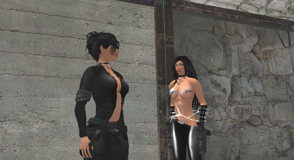 Nor Sim - 2 players interact in the second life roleplay