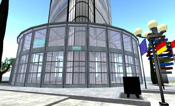 Virtual World Exchange facility, the commerzbank in Frankfurt City, Second Life