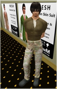 Male avatar with free mesh jeans